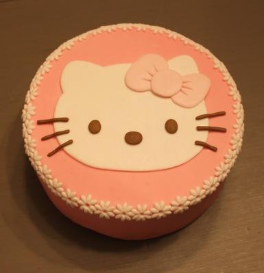 tarta fondant,pasta de azucar, tartas personalizadas, Hello Kitty, dibujos animados, cumpleaños, infantil, sorpresa niños