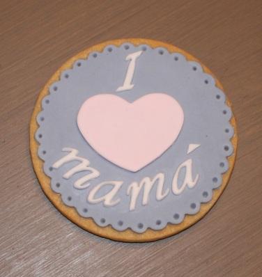 Galletas decoradas, galletas mamá, galletas día de la madre, galletas fondant