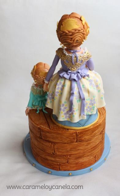 Tarta fallera, modelado, fallera, fallas, azucar, reposcakes, premiados, premios valencia, diseño tartas, cake designer, sugarcraft